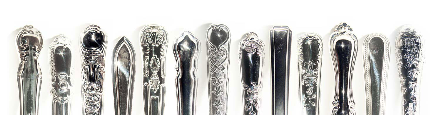 Antique Grecian Pattern Silver And Plate Flatware To The Trade From